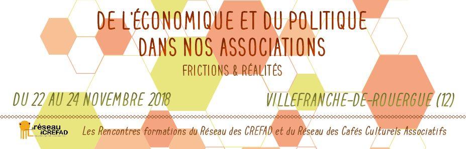Rencontres nationales du Réseau des Crefad et des cafés associatifs du 22 au 24 novembre 2018