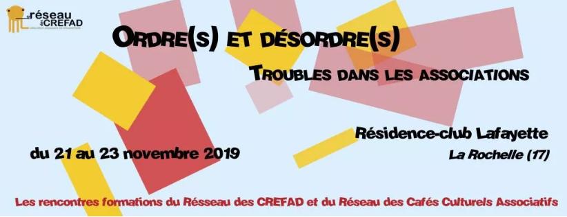 Rencontre-Formation du Réseau des Crefad, La Rochelle 21-22-23 novembre 2019